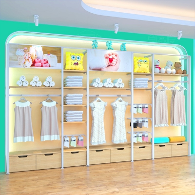 Maternal and child shop by wall side cabinet